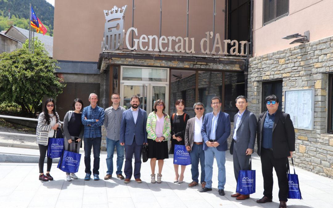 Era enterpresa tecnologica JSLidar e eth KMI (Korea Meteorological Institut) visiten era Val d'Aran